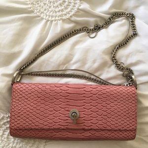 Ann Taylor Vintage Leather Clutch Purse